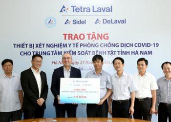 Tetra Pak trao tặng máy xét nghiệm RT-PCR trị giá 2 tỷ đồng cho Trung tâm Kiểm soát bệnh tật tỉnh Hà Nam